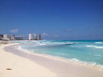 Das karibische Meer in Cancun - sieht gut aus, oder? ;-)