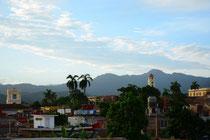 Unser Blick auf Trinidad von der Terrasse aus unserer Casa