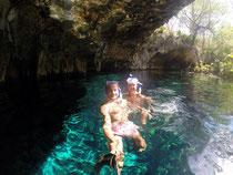 Fun mit der GoPro in der Gran Cenote