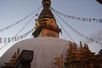 """""""Die große Weiße"""" Stupa in Boudhanath"""
