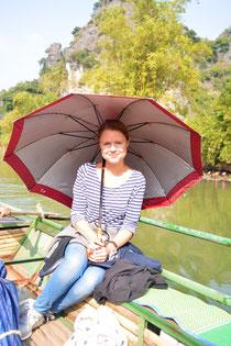 Lady Christina genießt die Bootstour