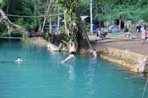 """""""Blue Lagoon"""" in Vang Vieng"""