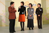 H19年福井県で開催された「食育のつどい」 左から2番目が事務局の中田、右端が会長の加藤です。
