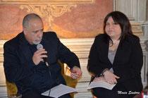 Elisa Martorana e lo scrittore Alfonso La Licata durante la presentazione.