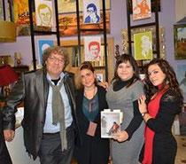 Elisa Martorana con gli autori durante la presentazione del libro.