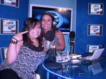 in foto Elisa Martorana in radio con la giornalista Anna Cane