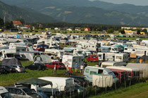 Camping am Airpower-Gelände