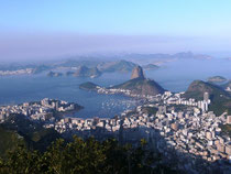 Blick vom Corcovado Richtung Zuckerhut
