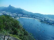 Blick vom Zuckerhut Richtung Corcovado