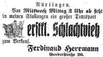 Anzeige im Nürtinger Tagblatt vom 23. Juli 1917, aus WERNER 1998, S. 88