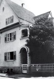 Schafstraße 22 um 1935, Josef und Frieda Herrmann bewohnten das erste Obergeschoss, aus WERNER 1998, S. 59