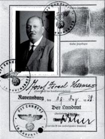 """Kennkarte, ausgestellt auf """"Josef Israel Herrmann"""", Dezember 1938, Ausschnitt, aus WERNER 1998, S. 64"""