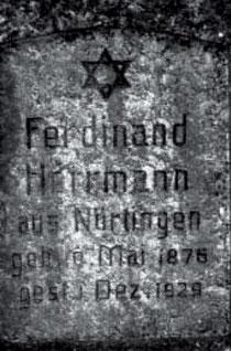 Grabstein von Ferdinand Herrmann auf dem Cannstatter Steigfriedhof, aus WERNER 1998