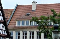 Die obere Fensterreihe markiert die früherern Wohnräume und die Fabrikation der Familie Reinhardt, Foto: Manuel Werner, alle Rechte vorbehalten!
