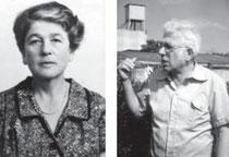 Fanny Erlanger geborene Herrmann, eine Tochter von Josef und Frieda Herrmann, 1950er-Jahre, und Pinchas Erlanger (früher: Peter Erlanger), ein Enkel von Frieda und Josef Herrmann, beide in Shavey Zion, Israel, aus WERNER 1998, S. 85