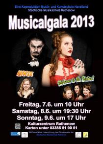 Plakat Musicalgala 2013