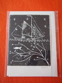 こちらがClaireがデザインしたグリーティングカード