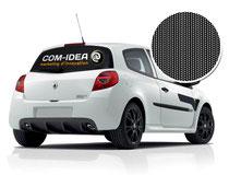 Adhésif micro perforé pour lunette arrière de véhicule