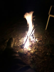 Ein kleines feuerchen haben wir uns auch erlaubt zu machen