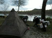 Campingplatz Nr. 2 kurz hinter Gap