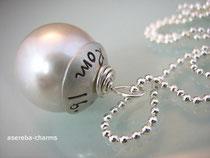 Perlen-Charm mit Hochzeitsdatum etc.