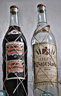 alte Großflaschen Moorbrand und Bastkorn