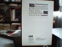 EXIL - Sonderband 1 Realismuskonzeptionen der Exilliteratur zwischen 1935 und 1940/41