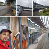 Commercial window cleaning with tailored solutions we can include signage and cladding.