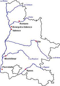 carte de la Drôme