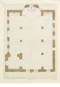 Plan de l'église St Jean-Baptiste de CUMIERES