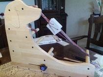 ブナ集成材 カード織り・インクル織りの織機