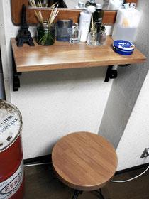 ナラ集成材の自作ビンテージ家具