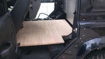 ゴム集成材の車内フラットフロア