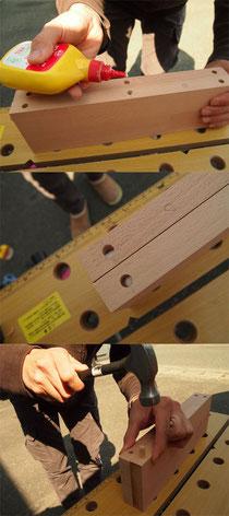 手作りプリンター台