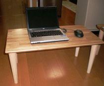 カバ桜集成材の自作ローテーブル