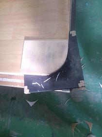 ナラ集成材の型取り用のオリジナル木製型