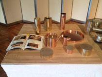 竹(茶)積層材のディスプレイ台