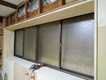 メルクシパイン積層材の窓枠