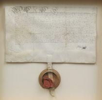 Pergament-Urkunde, Fürstbischof Ferdinand v. Paderborn 1674