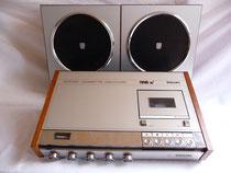 Philips Kassettendeck N 2400 Bj. 1971-1976