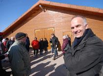 Michael Lemke während der Besichtigung in Neu Wulmstorf, Foto: Angela Heinssen