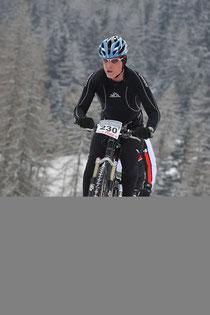 Philip Schädler auf der Bike-Strecke