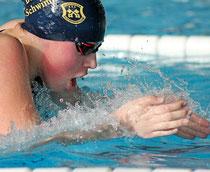 Erfolgreichste Brustschwimmerin des Buxtehuder Schwimm-Clubs (BSC) bei den Meisterschaften in Unterlüß war Chantal Kasch. Foto: Josephine Noack