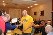 Lasse Monska: Ehrung für 25-jährige Mitgliedschaft im BSC