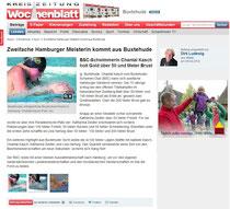 Zweifache Hamburger Meisterin kommt aus Buxtehude. Neue Buxtehuder Wochenblatt vom 09.04.2014