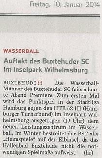Hamburger Abendblatt vom 10.01.2014