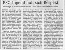 BSC-Jugend holt sich Respekt. Buxtehuder Tageblatt vom 14.08.2013