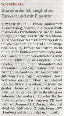 Hamburger Abendblatt vom 23.06.2014