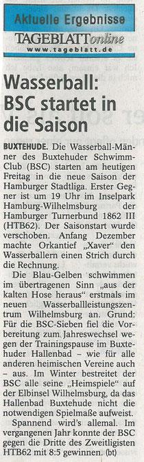 Buxtehuder Tageblatt vom 10.01.2014
