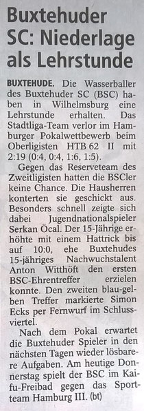 Buxtehuder SC: Niederlage als Lehrstunde